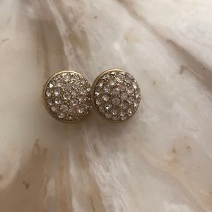 kate spade Jewelry - Kate spade crystal earrings with gold accent